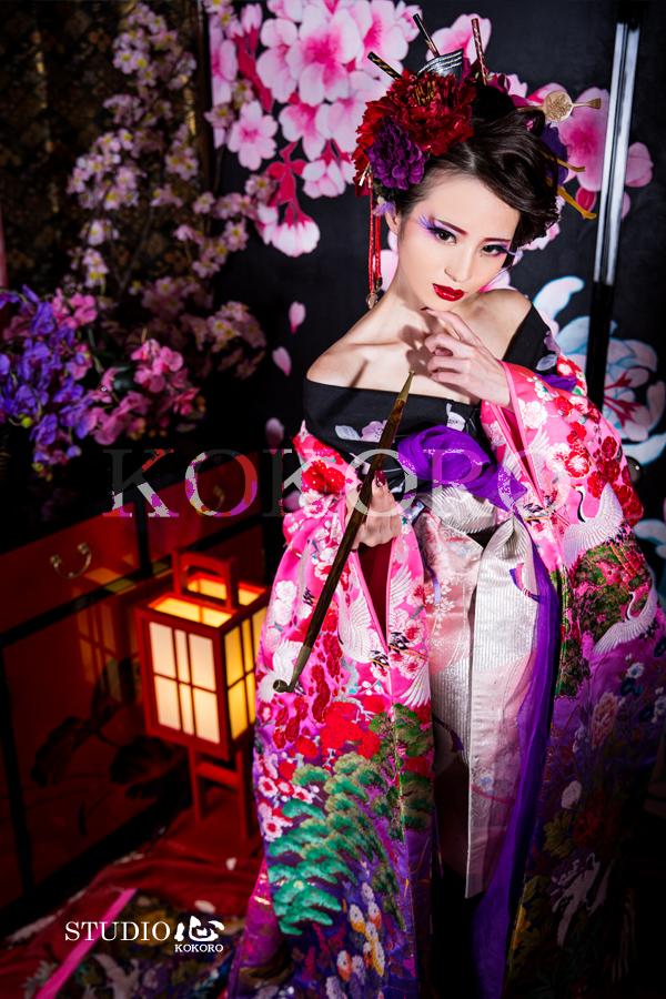 京都 花魁 体験 写真 撮影 観光 旅行 秋 紅葉
