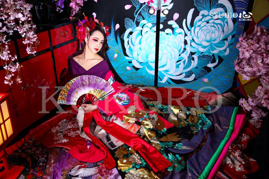 京都 花魁 体験 写真 カメラ 撮影 着物 化粧 ヘアメイク 旅行 観光