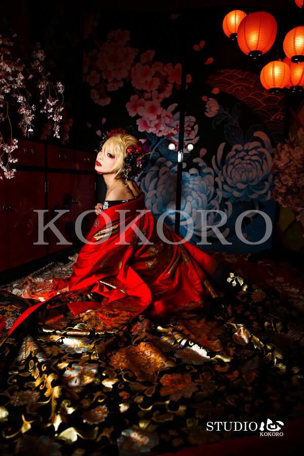 京都 嵐山 花魁体験 化粧 ヘアメイク 着物